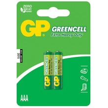 Солевые батарейки GP Greencell R03 2BP 2/20